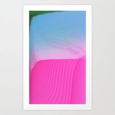 Beach Day -glitch- Art Print