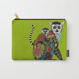 ring tailed lemur love lime Carry-All Pouch