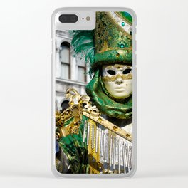 Traditional Venetian carnival costume at the San Marco Square Clear iPhone Case