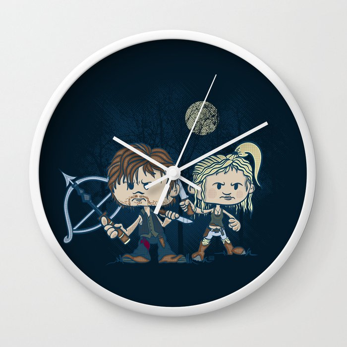 The Odd Couple Wall Clock by doodleheaddee | Society6