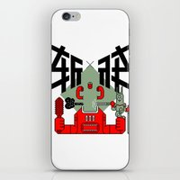 knight iPhone & iPod Skins featuring knight by  Toyoya Li