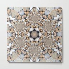 Kaleidoscope Heart Rock Design Metal Print