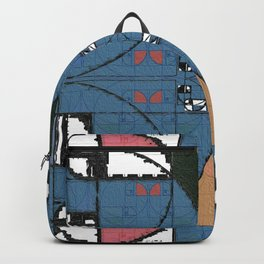 Golden Ratio Midcentury Modern Experimental Abstract I Backpack