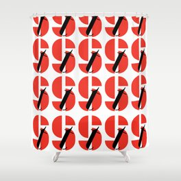 Bauhaus font art: Joschmi Xants Shower Curtain
