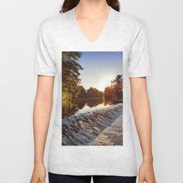 River weir Unisex V-Neck
