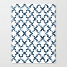 Navy Moroccan Canvas Print
