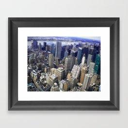 Mahnattan view (NY) Framed Art Print
