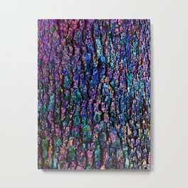 Afantasy Abstraction of Tree Bark Metal Print