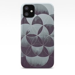 Sacred Geometry in the Forest iPhone Case