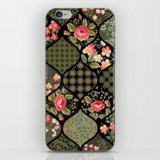 Boho Ornamental Floral Pattern iPhone & iPod Skin