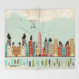 visit Indianapolis Indiana Throw Blanket
