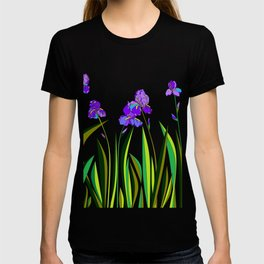 Large Purple Irises T-shirt