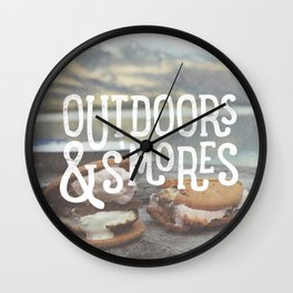 outdoors & S'mores Wall Clock