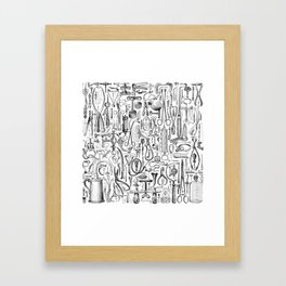 Medical Condition B&W Framed Art Print