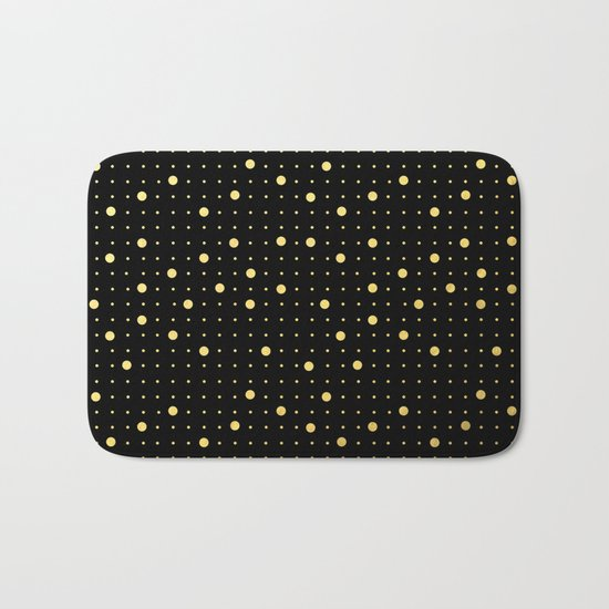 Pin Points Gold Bath Mat