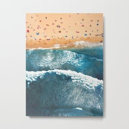 Summer Colors | Aerial Beach Metal Print