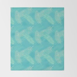 Tropik Blue Throw Blanket