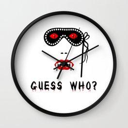 Halloween Guess Who Vampire Beauty Wall Clock