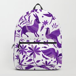Mexican Otomí Design in Purple Backpack