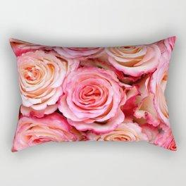 Beautiful Pink Roses Rectangular Pillow