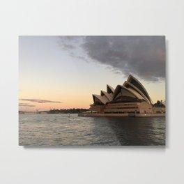 Opera House Sunset Metal Print
