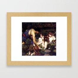 Hylas And The Nymphs John William Waterhouse Framed Art Print