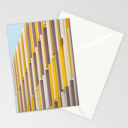 YELLOW CONCRETE BUILDING DURING DAYTIME Stationery Cards