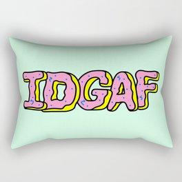 IDGAF Pink Donuts Rectangular Pillow