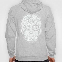 Día de Muertos Calavera • Mexican Sugar Skull – White on Black Hoody