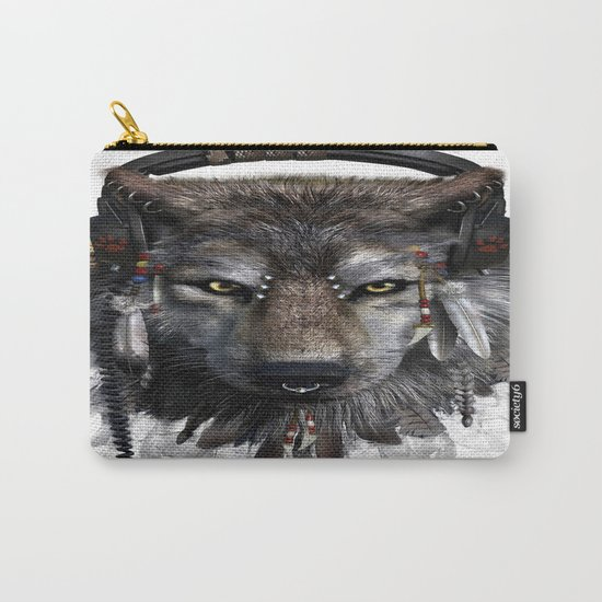 Wolf Pattern Carry-All Pouch