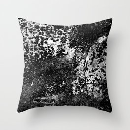 Weathered & Distressed Abstract in B&W Throw Pillow