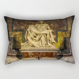 La Pieta Sculpted by Michelangelo photographed at St-Peter's Basilica Rectangular Pillow