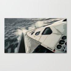 Interstellar Surfing Canvas Print