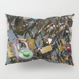 Love padlocks on Pont des Arts, Paris Pillow Sham