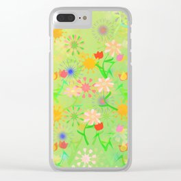 Spring Riot Pattern Clear iPhone Case