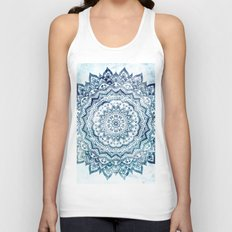 BLUE JEWEL MANDALA Unisex Tank Top