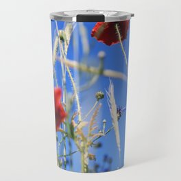 Poppies flower Travel Mug