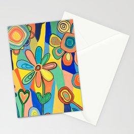 Floral Sunburst Stationery Cards