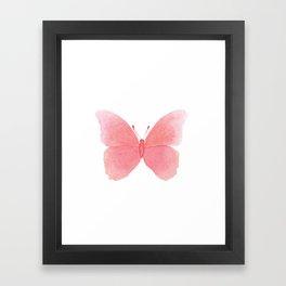 Watermelon pink butterfly Framed Art Print