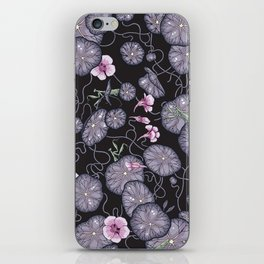 Black Indian cress garden. iPhone Skin