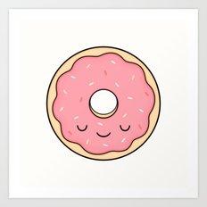 Donut - Pink Sprinkles Art Print