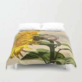 Waiting for the Sunflower Duvet Cover