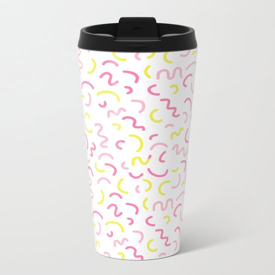 Cute pattern print design nursery decor bright sunny scandinavian Metal Travel Mug