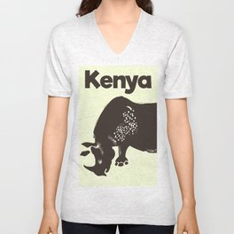 Kenya Rhino Unisex V-Neck