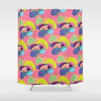 fruits Shower Curtains featuring Fruits  by Ryadraws