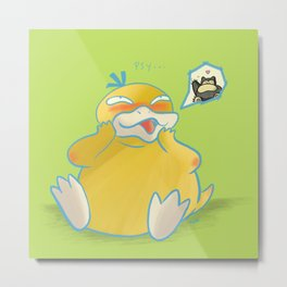 Psyduck Love Metal Print