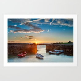 Dalkey sunrise Ireland Art Print