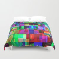 glitch Duvet Covers featuring GLITCH by C O R N E L L