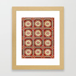 Aubusson 19th Century French Rug Print Framed Art Print
