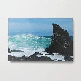 Keanae Maui Hawaii Pacific Ocean Coastal Waves Metal Print